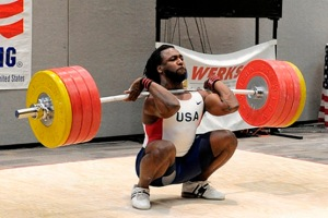 USA Olympic Weightlifting Team, Kendrick Farris, front squat